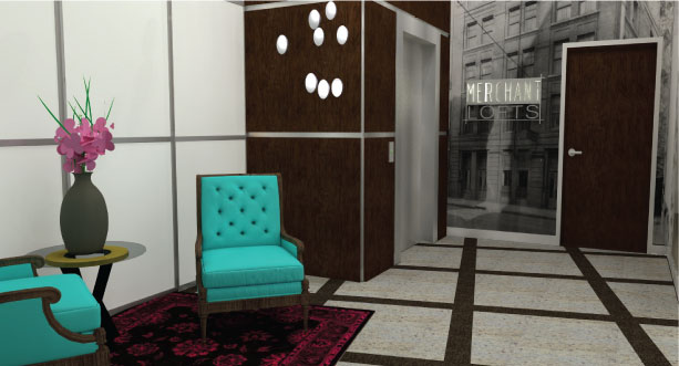 Lobby Rendering Drawing